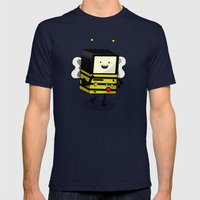 BEE-MO Mens Fitted Tee Navy SMALL