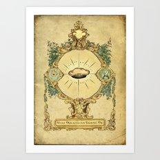 The holy miraculous talking pie Art Print