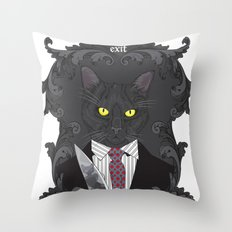 American Psycho Kitty Throw Pillow