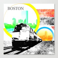 Locals Only - Boston Canvas Print