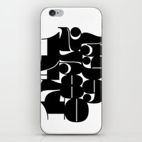 Numbers Black iPhone & iPod Skin