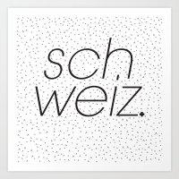 Schweiz  Art Print