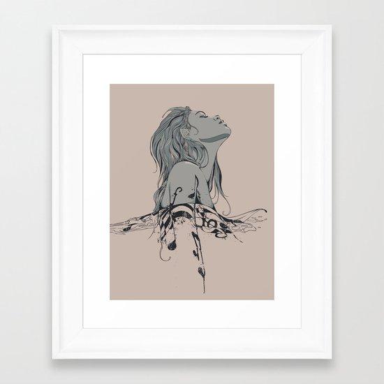 Floating in The Rhythm Framed Art Print