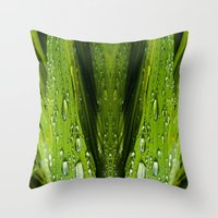 Floral Reflections In Wa… Throw Pillow