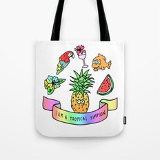 i am a tropical simpson Tote Bag