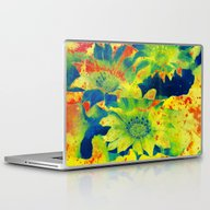 Laptop & iPad Skin featuring Bright Flowers  Https://… by Clemm