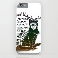 iPhone & iPod Case featuring Hipster Cat giving Smart Advice by Madame Potpourri
