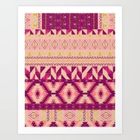 Geo Patched Art Print
