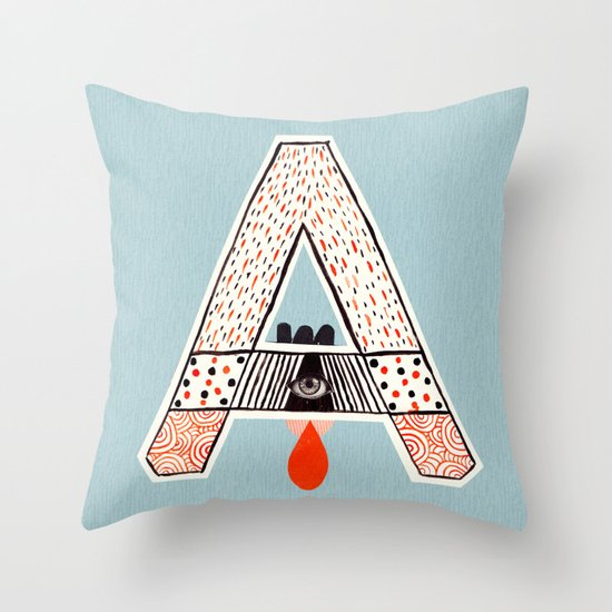 "a to z - ""A"" Throw Pillow"