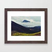 Wetterhorn Peak Framed Art Print