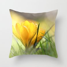 Early in the morning, when it's time.... Throw Pillow