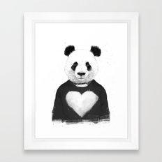 Lovely panda Framed Art Print