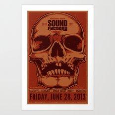 Sound Factory Final Show Poster (Variant) Art Print