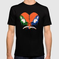 Clementine's Heart Black Mens Fitted Tee SMALL