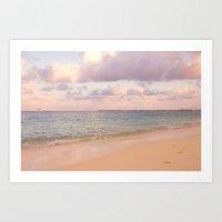 Dreamy Beach View Art Print