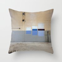 Wall Swatches Throw Pillow