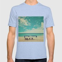 Paradise Beach And Retro… Mens Fitted Tee Athletic Blue SMALL