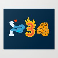 Fantastic Numbers Canvas Print