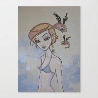Summer Bird Canvas Print