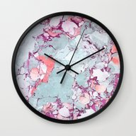 Marble Art V13 #society6… Wall Clock