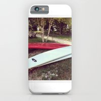 iPhone & iPod Case featuring Stand Up Surfboards Water Sport Color Photography by ginaphoto