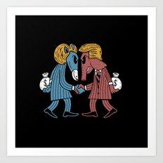 Lie vs Lie Election Addition Art Print