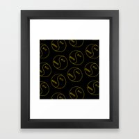 Rich / Boring (Black) Framed Art Print