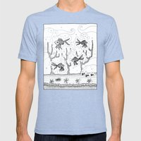 Underwater Mens Fitted Tee Tri-Blue SMALL