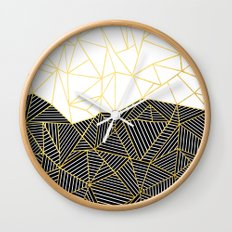 Ab Half and Half White Gold Wall Clock