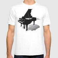Pianist, Frédéric Chopin Mens Fitted Tee White SMALL