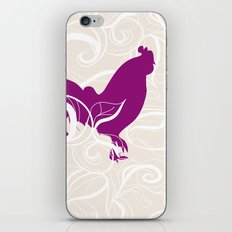 Farm Poster #2 - Rooster & Worm iPhone & iPod Skin