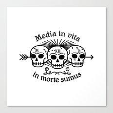 Media in vita in morte sumus Canvas Print