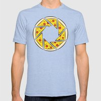 Pizzaperture Mens Fitted Tee Tri-Blue SMALL