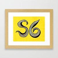 rattle snake Framed Art Print