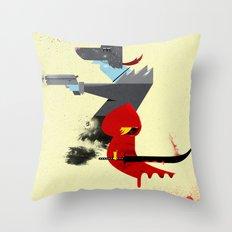 Red Hood & The Badass Wolf Redux Throw Pillow
