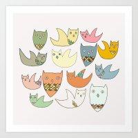 Owlz Art Print