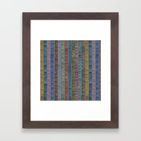 Knit Stitch Pattern Framed Art Print