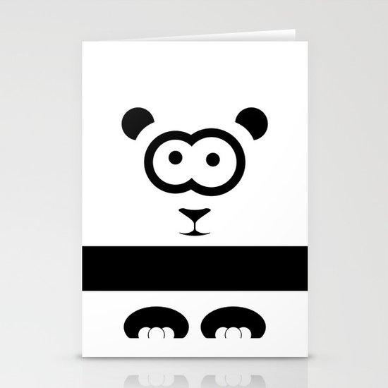 Minimal Panda Stationery Card