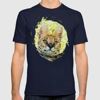 SERVAL BEAUTY Mens Fitted Tee Navy SMALL