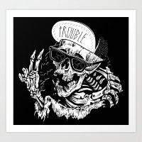 TROUBLE RIPPER / TROUBLE… Art Print
