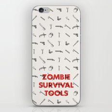 Zombie Survival Tools - Pattern 'o tools iPhone & iPod Skin