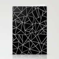 Abstraction Outline Black and White Stationery Cards
