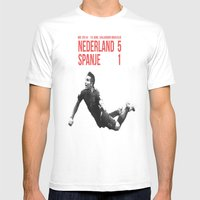 Van Persie - Spanje Nede… Mens Fitted Tee White SMALL