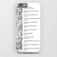 Words Words Words - William Shakespeare Quotations print iPhone 6 Slim Case