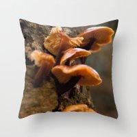 Mushrooms II Throw Pillow