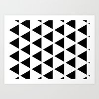 Sleyer Black On White Pa… Art Print