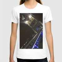 Tower Bridge London Womens Fitted Tee White SMALL
