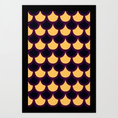 Scallop Pattern Art Print