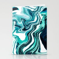 Marble - Sea of Green Stationery Cards