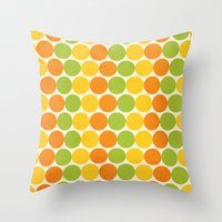 Zesty Polka Throw Pillow